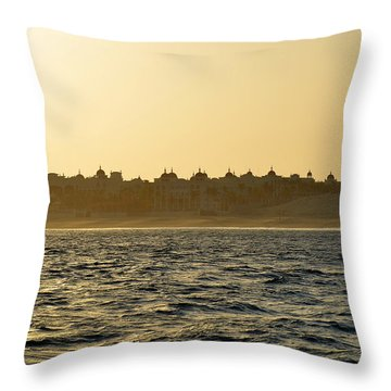 Throw Pillow featuring the photograph Sunset Over Cabo by Christine Till