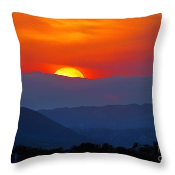 Sunset Over California Throw Pillow by Martin Konopacki