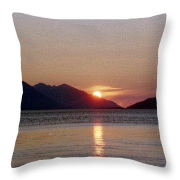 Sunset Over Cook Inlet Alaska Throw Pillow