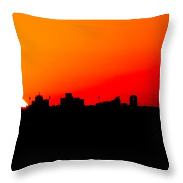 Sunset Over Dallas Throw Pillow