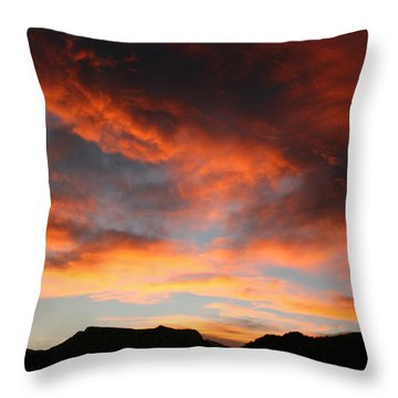 Sunset Over Estes Park Throw Pillow
