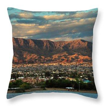 Sunset Over Havasu Throw Pillow
