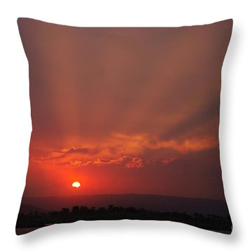 Sunset Over Hope Island 2 Throw Pillow by Blair Stuart