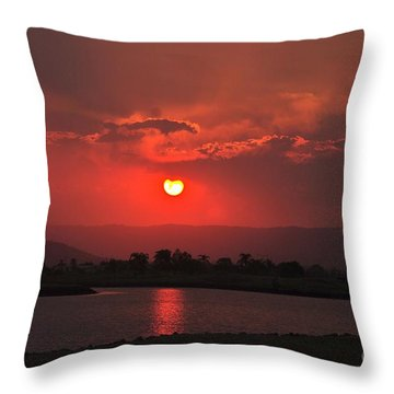 Sunset Over Hope Island Throw Pillow by Blair Stuart