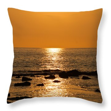 Sunset Over Kona Throw Pillow