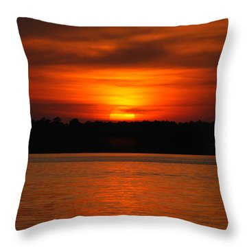 Sunset Over Lake Martin Throw Pillow