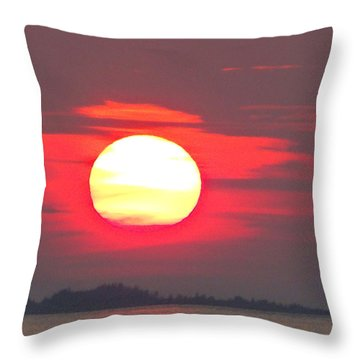 Sunset Over Lake Michigan 2 Throw Pillow