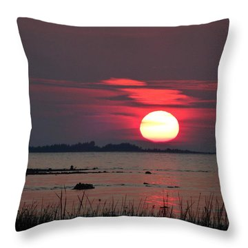 Sunset Over Lake Michigan 3 Throw Pillow