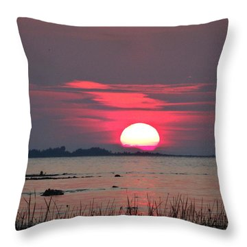 Sunset Over Lake Michigan 4 Throw Pillow