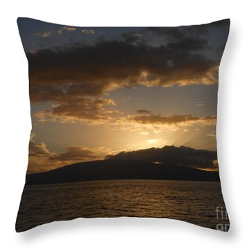 Throw Pillow featuring the photograph Sunset Over Lanai by Fred Wilson