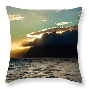Sunset Over Lanai   Throw Pillow