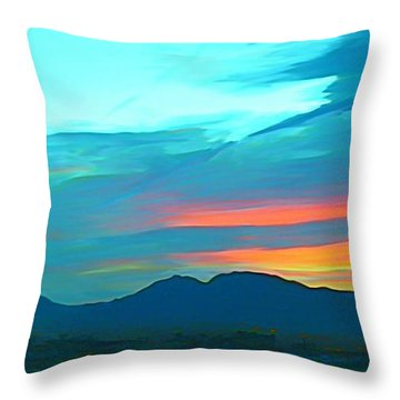 Sunset Over Las Vegas Hills Throw Pillow by John Malone