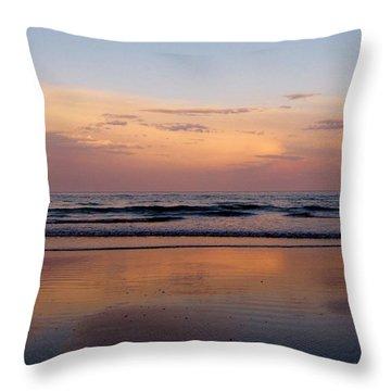 Sunset Over Long Sands Beach II Throw Pillow
