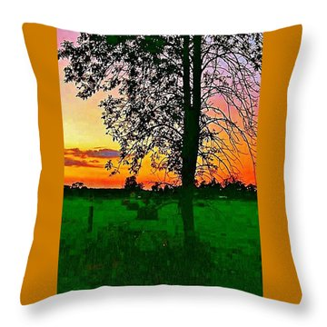Throw Pillow featuring the photograph Sunset Over M-33 by Daniel Thompson