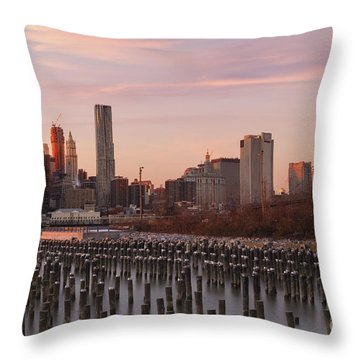 Sunset Over Manhattan  Throw Pillow