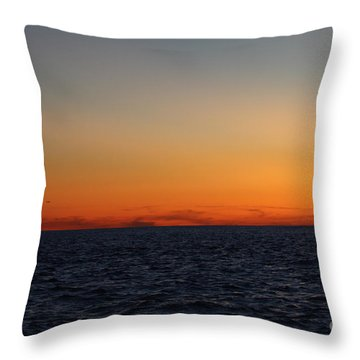 Sunset Over Point Lookout Throw Pillow by John Telfer