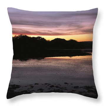 Sunset Over Quanah Parker Lake Throw Pillow