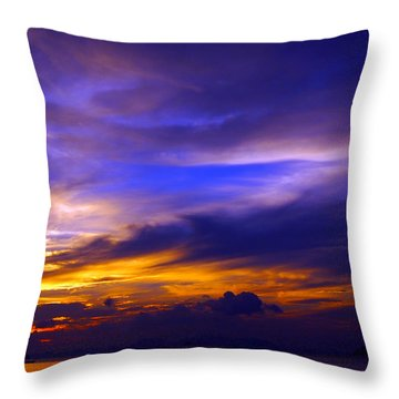 Sunset Over Sea Throw Pillow by Kaleidoscopik Photography