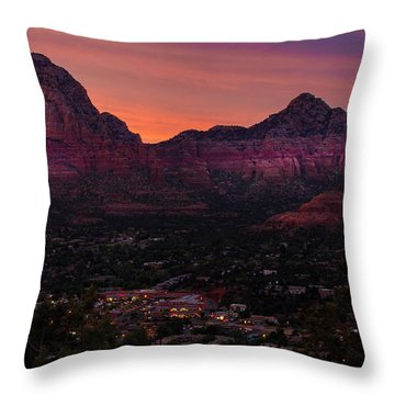 Sunset Over Sedona Az Throw Pillow