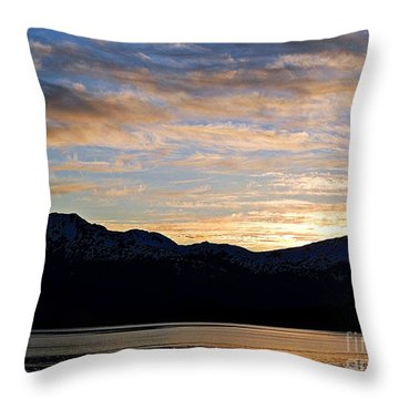 Sunset Over Skagway Ak Throw Pillow