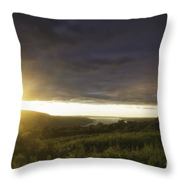 Sunset Over Skaneateles Throw Pillow
