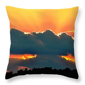 Sunset Over Southern Ohio Throw Pillow