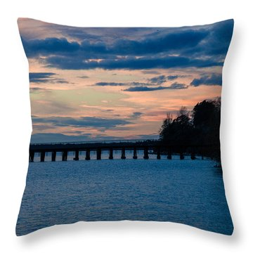 Sunset Over Squalicum Bay Throw Pillow