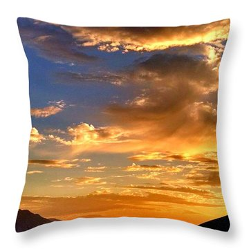 Throw Pillow featuring the photograph Sunset Over The Pass by Chris Tarpening