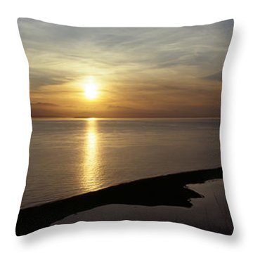 Sunset Over The Sea, Ebeys Landing Throw Pillow