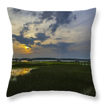 Sunset Over The Wando Throw Pillow