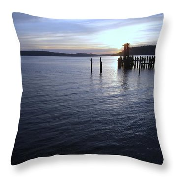 Sunset Over Titlow Throw Pillow