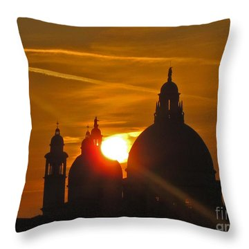 Sunset Over Venice Throw Pillow