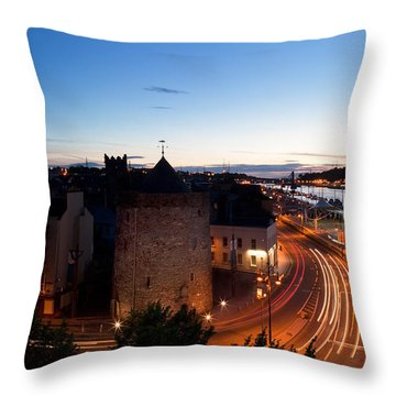 Sunset Over Waterford City, County Throw Pillow