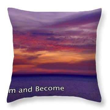 Sunset Pacific Ocean  Throw Pillow by Marlene Rose Besso