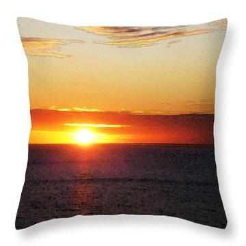 Sunset Painting - Orange Glow Throw Pillow