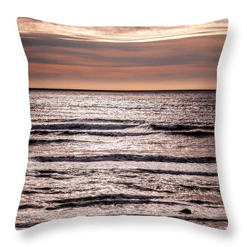 Sunset Ocean Throw Pillow