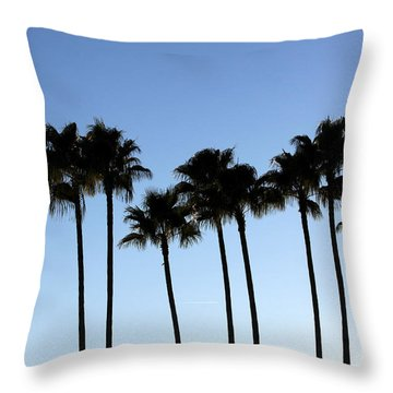Sunset Palms Throw Pillow by Chris Thomas