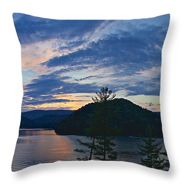 Sunset Pano - Watauga Lake Throw Pillow