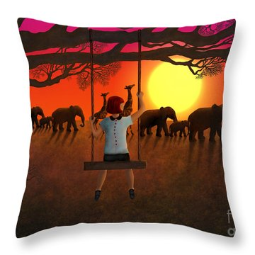 Sunset Parade Throw Pillow