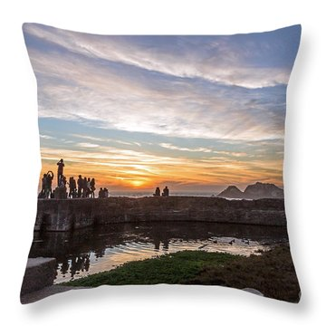 Sunset Party Throw Pillow