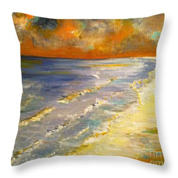 Sunset Passion At Cranes Beach Throw Pillow