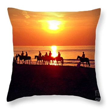 Sunset Past Time Throw Pillow by Nina Ficur Feenan