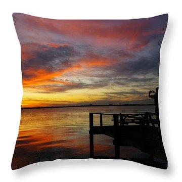 Sunset Photographer Throw Pillow
