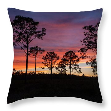 Throw Pillow featuring the photograph Sunset Pines by Paul Rebmann