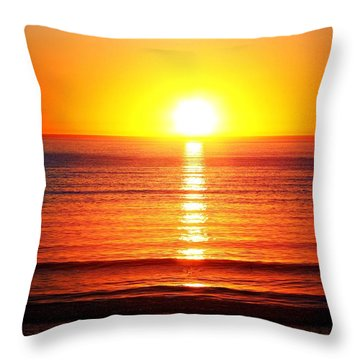Sunset Pipers Throw Pillow