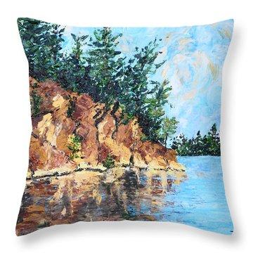 Sunset Point Throw Pillow by Diane Arlitt