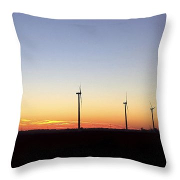 Sunset Power Throw Pillow