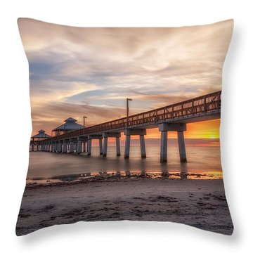 Sunset Throw Pillow by Presilla