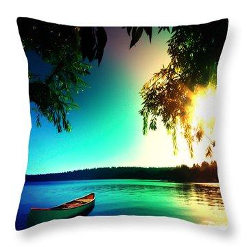 Sunset Rainbow At Kenmore Washington Throw Pillow