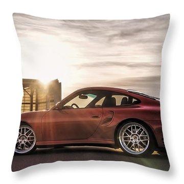 Sunset Red Throw Pillow